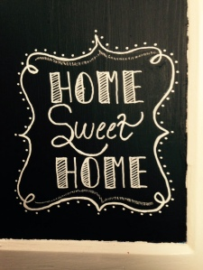 home chalk close up